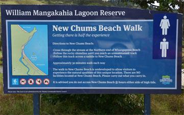New Chums Beach Walk sign