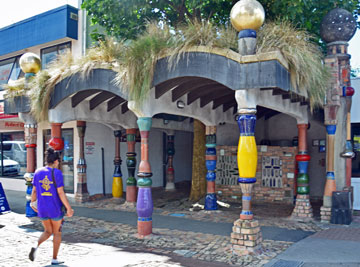 Hundertwasser's unique design for the public toilets