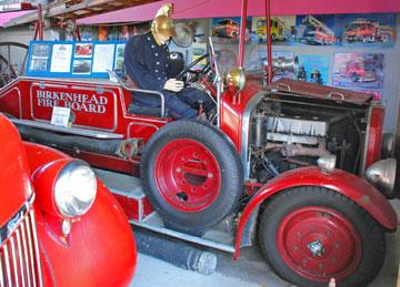 A very early restored fire engine