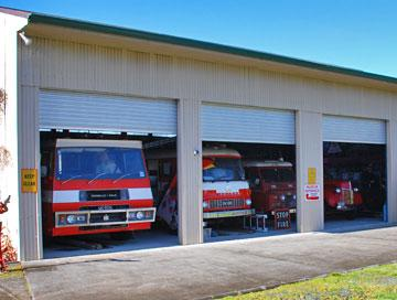 Restored fire engines
